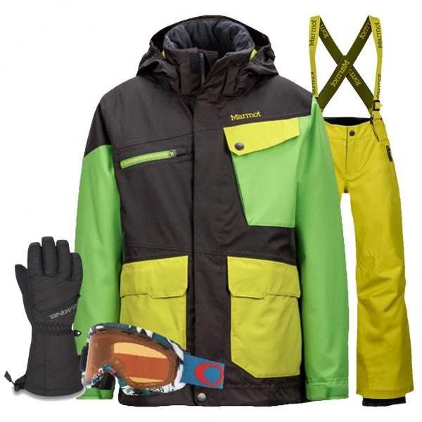 MARMOT Jungen Skibekleidung Set - Jumpy Jibber - green mieten