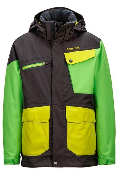 MARMOT Jungen Skijacke SPACE WALK - slate grey/ vibrant green mieten